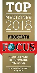 FOCUS Empfehlung 2018 - Prostata